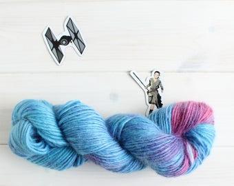 Stardust - Star Wars themed hand dyed yarn - 100g aran weight - merino, silk, and mohair blend