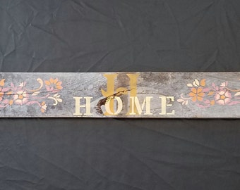Rustic Wood Home Sign, Custom Color Wooden Home Sign, Rustic Home Sign, Rustic Home Decor, Home Pallet Sign, Personalized Sign, Rustic Sign