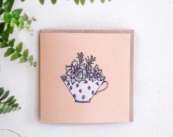 Greeting Card - Peach