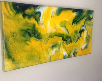 "Abstract Resin Art ""Sandy Storm"""