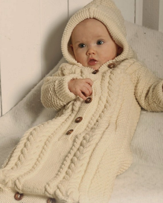 Baby Bunting Cocoon Cable Knit Sleeping Bag Knitting