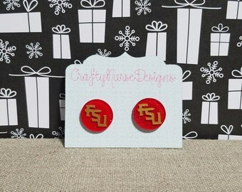 FSU, Florida State University, Stud Earrings