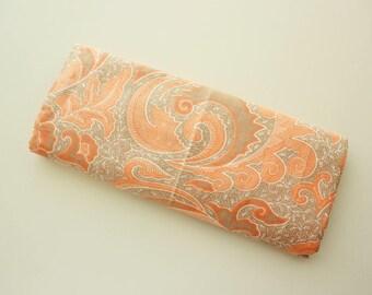 Batik, Batik Fabric, Floral Batik Fabric, Batik Shawl, Big Flowers, Peach, Beige, Dual Colour Tone, Print, Cotton, 2 Metre long