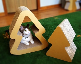 Nesting Cat Scratcher, Cat Tree, Cat Furniture, Cardboard House, Cat House, Cat Gift, Cat Toy, DIY, Cardboard Scratcher, Cat Box, Cat Perch