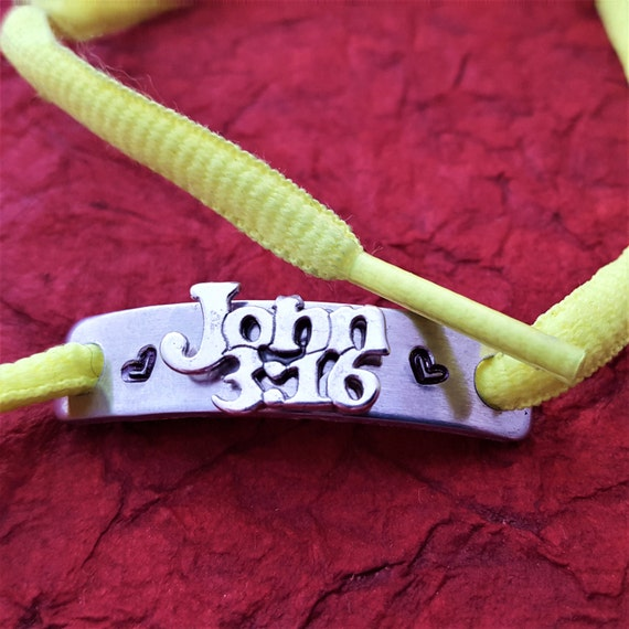 Shoelace Charms, Shoe Lace Tags John 3:16, Shoe Charms, Bible Scripture Tags, Running Jewelry, Religious Holiday Gift, Sports Team Jewelry