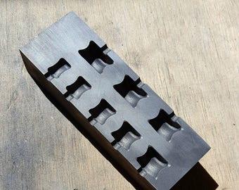 Graphite Mold: Guage Mold V2 (10mm-24mm)
