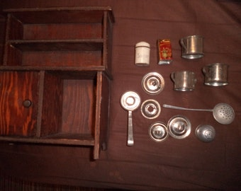 Antique german KITCHEN for dolls house-dollhouse furniture Marked SWISS and GERMANY