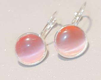 Healing crystal earings,Rhodonite dangly earings, rhodonite crystal,  spiritual,healing,mood,crystal stone,