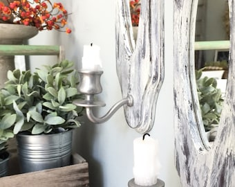 A Pair of Vintage French Farmhouse Sconces •Free Shipping•
