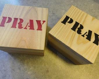 WOODEN PRAYER BOX