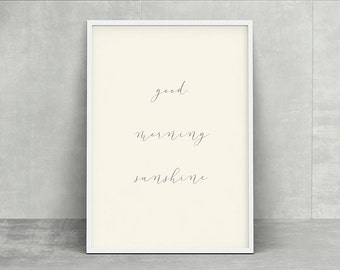 Sunnybonbon simple modern poster - good morning - instant download printable home decor poster
