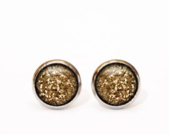 Gold Jewelry Party Earring Glitter Minimal Earring Gift Jewelry Teen Gift for Sister Holiday Gift Teen Party Jewellery Party Gift Christmas