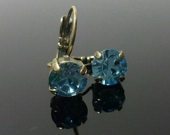 Swarovski Crystal dangle earrings 39ss 1088 Chaton