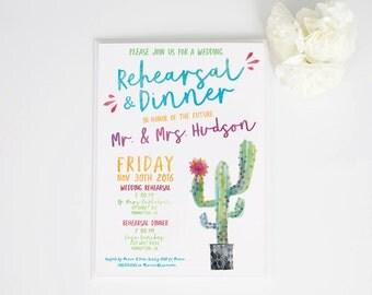 Watercolor Fiesta Invite Wedding | Rehearsal Dinner | Birthday | Celebration