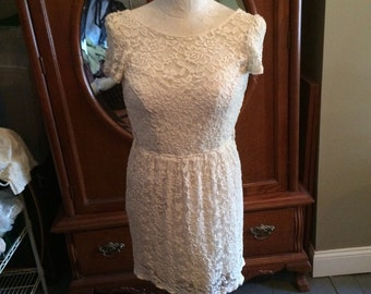 Vintage American Rag Size Small Lace Dress