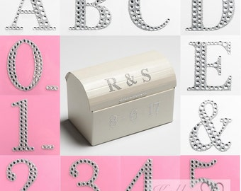 Self Adhesive Diamante 5.5cm Numbers & Letters