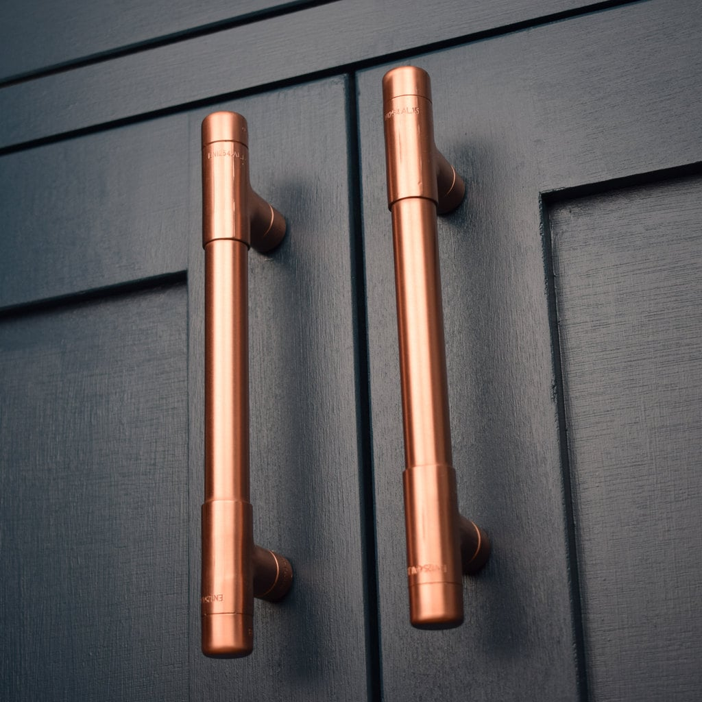 Modern Copper T Pull Handle. Drawer Pull. Cabinet Hardware