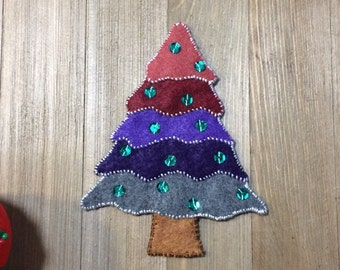 Ombre Felt Christmas Tree