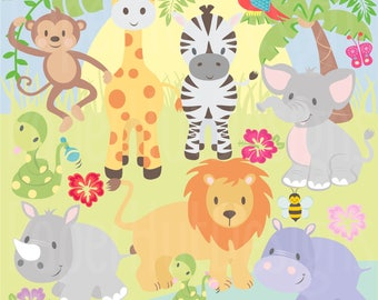 Aliexpress.com : Buy Big Jungle Animals Bridge Vinyl Wall Stickers ...