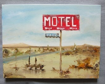 Art Oil Painting-American route oil painting - Contemporary Home Decor - Americana-Wall Art,