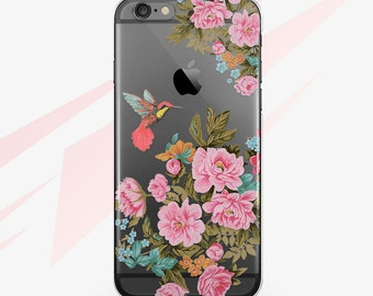 iphone 7 Case iPhone 6 Case Birds iPhone 5 Case Flower iPhone 6S Case Transparent iPhone 6 Clear Case iPhone 5S Bird Clear iPhone Case 0155