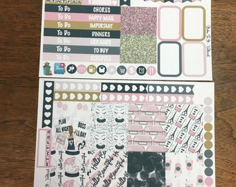 Planner Girl Mini Weekly Set ECLP Horz & Vert Planner Stickers Erin Condren Mambi Inkwell Press Filofax KikkiK Happy