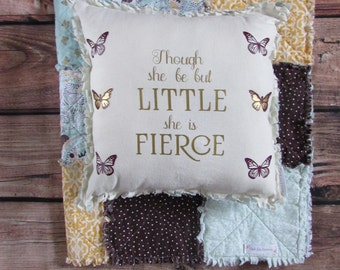 Butterfly Rag Quilt Pillow