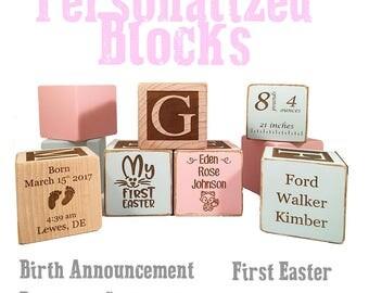 Baby Baptism Gifts-Christening Block-Baptism Block-Christening Gift Keepsake Custom Engraved wooden baby blocks for newborn girl newborn boy