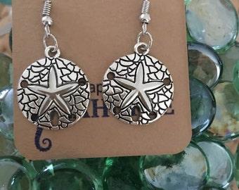 Sand Dollar Earrings,Coastal Jewelry,Ocean Lovers