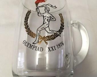 1976 Olympics Montreal Summer Olympic Games Beer Mug