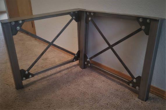 Perfect Industrial Table Legs   Metal Table Legs   Metal Legs   X Frame Table Legs    Farmhouse Legs   Desk Legs   Coffee Table Legs