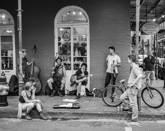 New Orleans Photography, Street Photography, Black and White Photography, Musicians, French Quarter Art,  - NOLA Street Musicians