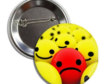 """Sad Button - 1.5"""" and 2.25"""" Pinback Button"""