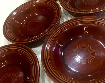 1960's Fiestaware/Sheffield Amberstone Bowls (set of 5)