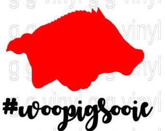 Arkansas Razorback Woo Pig Sooie SVG Cutting File Shirt Design Silhouette Cricut Cutting File #woopigsooie
