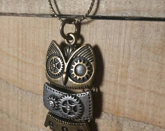 Gear Owl Necklace