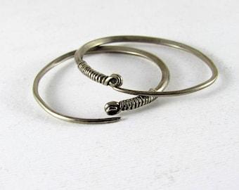 Old Ethiopian hoop earrings