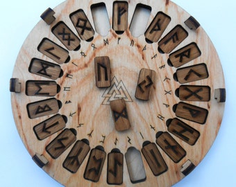 Rune Set Elder Futhark. Viking runes. Wooden runes
