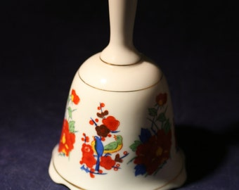Porcelain Bell * Birds and Flowers * Made in Taiwan