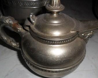 Vintage Victorian round Silver Plated Creamer