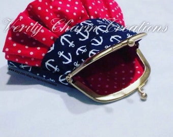 Vintage Sailor Inspired Coin Purse