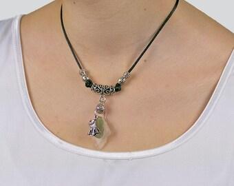 Bohemian seaglass pendant «Isadora»