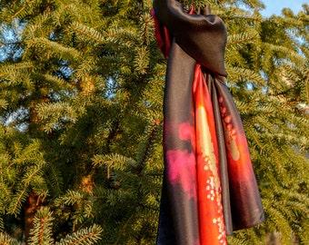 "Silk scarf ""Fireworks"""