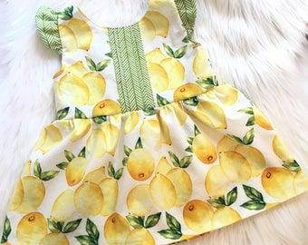 Lemony Sweet Peplum Top
