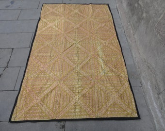 Indian vintage tablecover,bedspread,wall hanging rug,78 x 47 inches