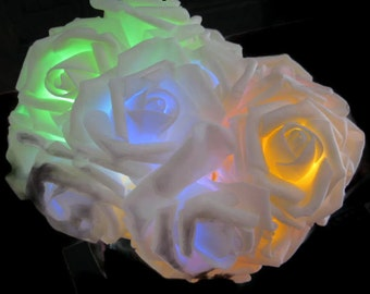 Led String Fairy Lights - Multicolour Roses, night lights, battery operated, party lights, wedding, home decor