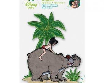 Disney Jungle Book Iron-On Applique Mowgli W/Baloo