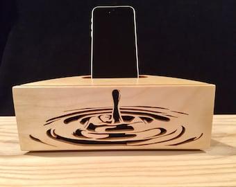 Acoustic speaker Phone amplifier iPhone amplifier iPhone speaker Wooden speaker Charging station iPhone dock Docking station Passive Amp