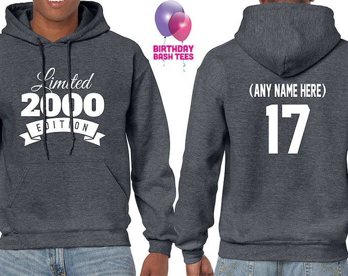 2000 Birthday Hoodie 17 Year Old Limited Edition 17th Gift For Boyfriend