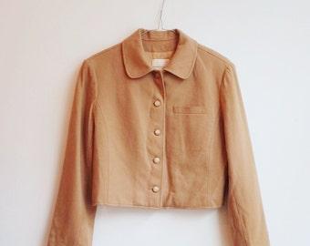 Vintage wool pendelton jacket coat camel blazer S/M